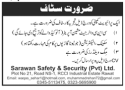 sarawan Safety and Security Pvt Ltd jobs advertisement